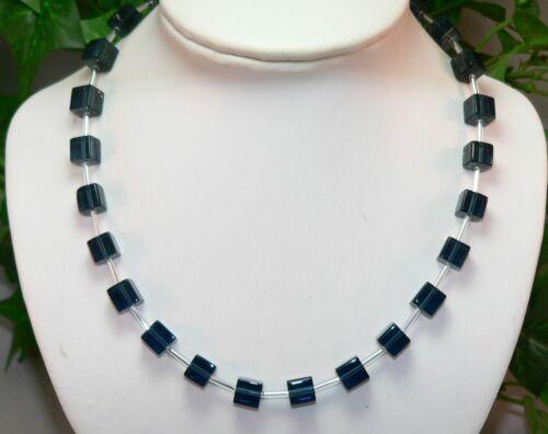Halskette Würfelkette Kette Cube unifarben blau petrol    NEU  263