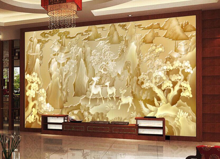 3D Jade Landscape 688 Wall Paper Wall Print Decal Deco Indoor Wall Mural CA