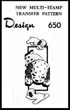 "Pattern 11"" Stuffed Animal Dog Sleepy Puppy Material Fabric Sew Design # 650 TOY"