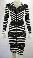 Expresso 121 Barclay Knielanges Kleid Damen NEU Farbe: Schwarz/Weiß - Gr. XS