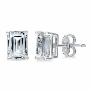 1-Ct-Baguette-Cut-Stud-Earring-in-18K-White-Gold-Filled-with-Swarovski-Crystals