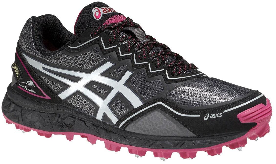 Asics gel fujisetsu GTX mujer invierno Running zapatos-gris