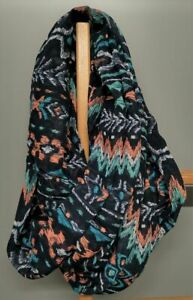 Multi-Pattern-Polyester-Infinity-Scarf-Multicoloured