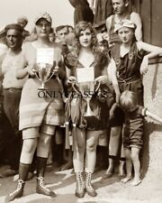 1920 VINTAGE BATHING BEAUTY CONTEST PINUP SWIMSUIT GIRLS 8X10 PHOTO CUTE & UGLY