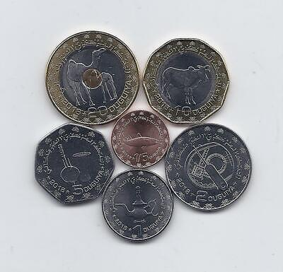 1//5-20 ouguiya 2017-2018 UNC Mauritania set of 6 coins
