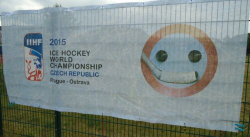 Fahne Banner 2015 Ice Hockey World Championship Czech Republic Prag Ostarva #16 Sammeln & Seltenes Memorabilia