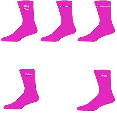 Gastfreundlich Hot Pink Luxury Cotton Rich Wedding Socks, Groom, Best Man, Usher