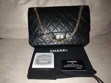 b5c71766320c CHANEL Black 2.55 Reissue Quilted Classic Calfskin Leather 227 Jumbo ...