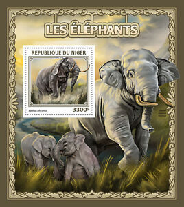 Niger 2016 MNH Elephants 1v S/S Wild Animals Stamps