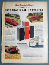 1949 International Harvest Products Farmall C, Crawler Trator, Freezer & Semi