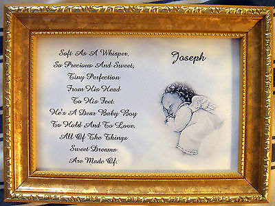 2019 New Style Baby's Personalized Keepsake Poem ( Boy Or Girl ) Unframed Attractive Fashion