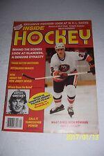 1982 83 Inside Hockey NEW YORK ISLANDERS Mike BOSSY No Label WAYNE GRETZKY Prev