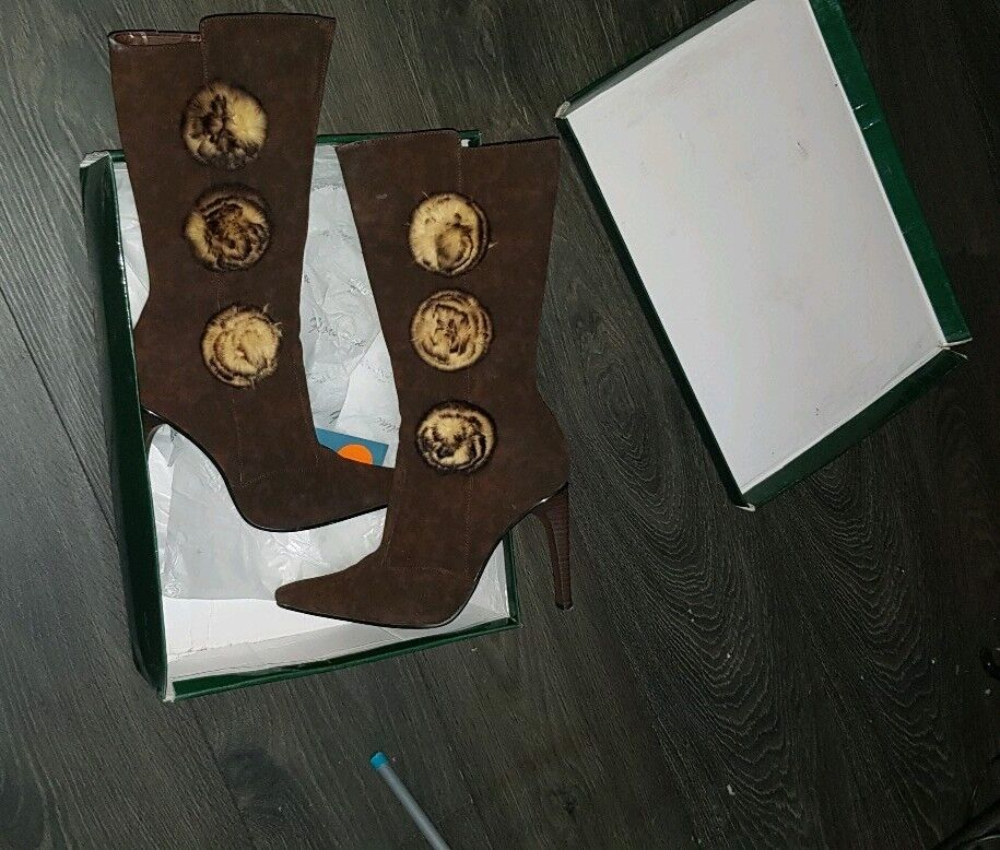 Florentine Women's Fabulous suede Boots,SIZE  5UK