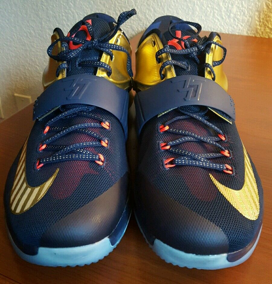 Nike KD VII Kevin durant PRM OLYMPIC GOLD MEDAL, NAVY BLUE