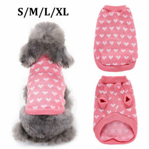 Pet Puppy Dog Warm Jumper knitted Sweater Clothes Knitwear Costume Coat Apparel