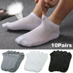 5-Pairs-Cotton-Textile-Men-Ankle-Socks-Low-Mesh-Breathable-Summer-Sports-Socks