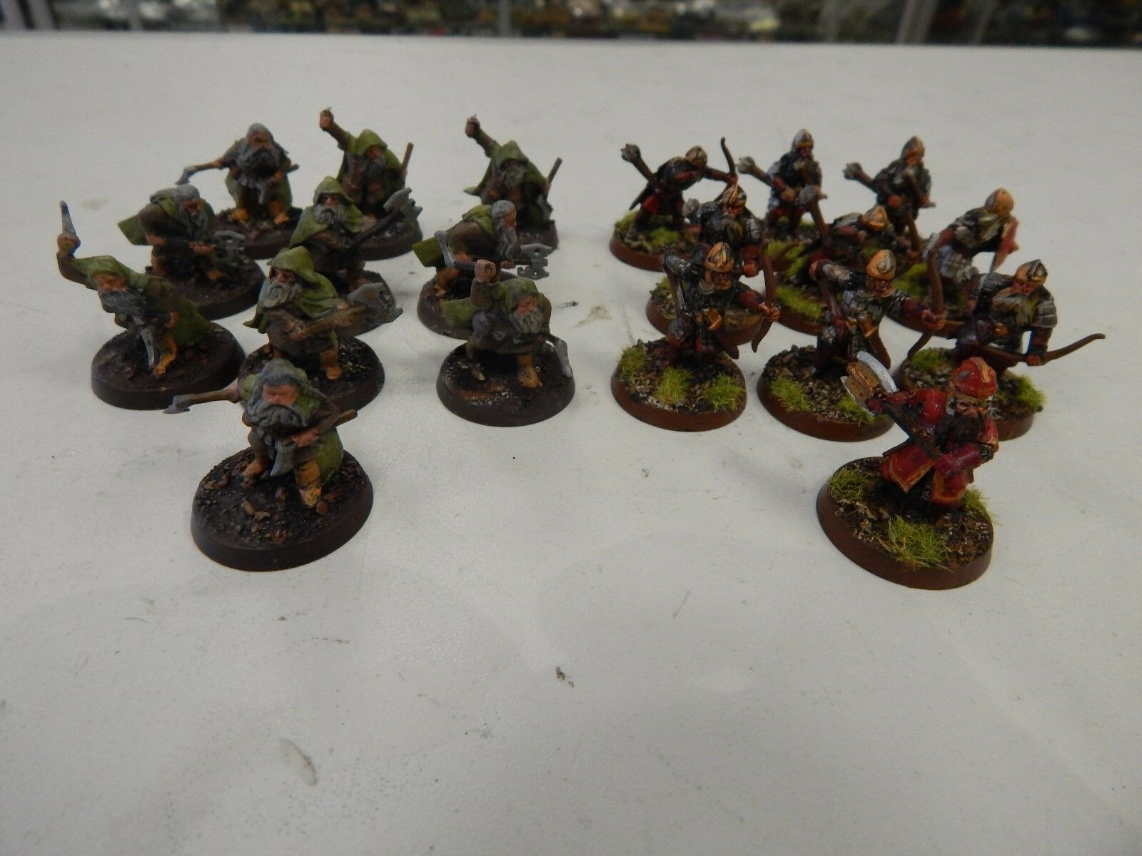 Games Workshop Lord of The Rings painted Dwarven Axemen x 29 metal figures