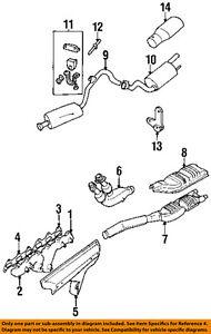 jaguar oem 95 97 xj6 exhaust manifold gasket ebc11330 ebay rh ebay com LHT Exhaust Manifold B-Series MGB Exhaust Manifold