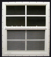 18 X 23 Shed Window White J-channel Safety Glass Playhouse Storage Building Barn