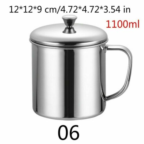 Stainless Steel Travel Camping Mug Coffee Tea Handle Cup Kitchen Accessory Multi