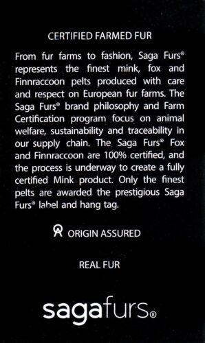 Saga Furs Jet Black Fox Fur Black Suede Leather Men/'s Aviator Furry Hat