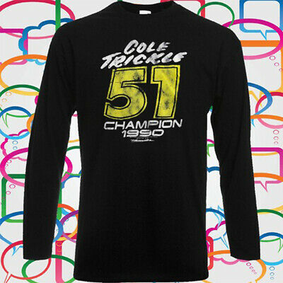 Cole Trickle Days Of Thunder Movie Men/'s Long Sleeve Black T-Shirt Size S-3XL