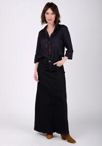 Denim-Long-Skirt-Black-SKIRT59-Womens-Maxi-Skirt-Full-Length-Denim-Skirt