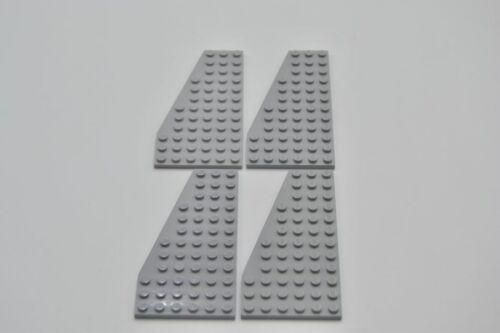 LEGO 4 X PIASTRA ala sinistra neuhell GRIGIO Light Bluish Gray Plate 12x6 left 30355