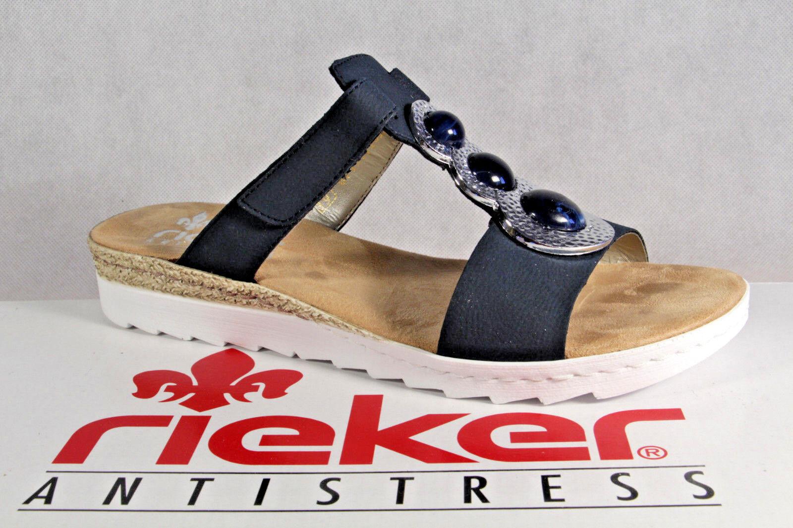 Rieker Seali Ciabatte Pantofola Blu, 63064 Nuovo