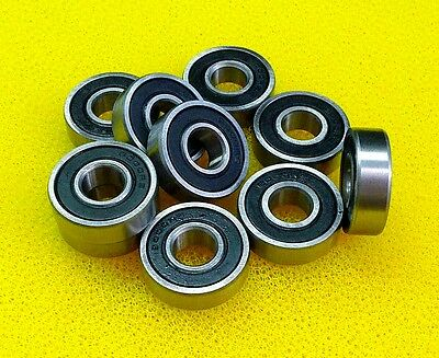 3x8x4 mm 25 PCS Metal Rubber Sealed Ball Bearing 693RS 3*8*4 Black 693-2RS