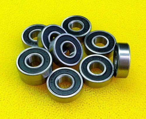 "5 PCS 5//8/"" x 1-3//8/"" x 11//32/"" R10-2RS Rubber Sealed Ball Bearing BLACK R10RS"