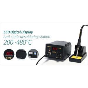 937D 60W Constant-Temperature Soldering Station Digital Display W// 5 Tips 110V
