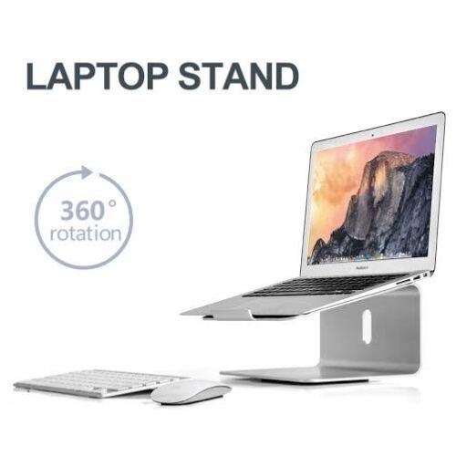Aluminium alloy stand//mount 11-17 inch bottom swivel Ergonomic Laptop//MacBook