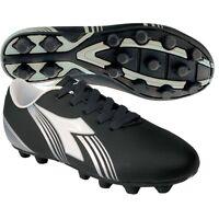 Diadora Avanti Md Jr Youth Kids Soccer Cleats Black / White Shoes Boys Size 5.5