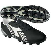 Diadora Avanti Md Jr Youth Kids Soccer Cleats Black / White Shoes Boys Size 5.5