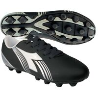 Diadora Avanti Md Jr Youth Soccer Cleats Black / White Shoes Boys Size 3