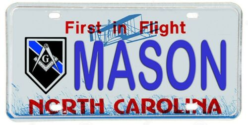 North Carolina Police Sheriff NOVELTY License Plate Masons Blue Line Design