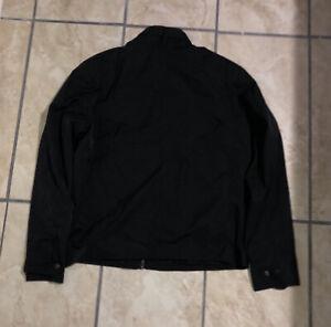 Hause Of Howe Men's Black Zip Up Windbreaker Jacket XXL Nylon Cotton Blend
