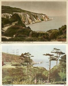 D-044-ISLE-OF-WIGHT-TWO-POSTCARDS-OF-THE-NEEDLES