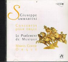 CD album: Giuseppe Sammartini: concertos pour orgue. Martin Gester. accord. C