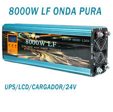 Inversor Onda Pura 24v 8000w Con Cargador 120A Pure Wave Inverter With Charger