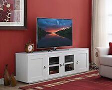 "White Entertainment Center TV Modern Contemporary Unit Console Stand Media 72"""
