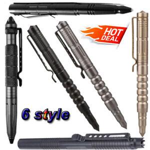 "USA 4//8Pcs 6/""Aluminum Tactical Pen Glass Breaker Writing Survival Army Tools"
