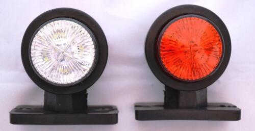 2 Led Seitenblinker Lampe Licht Weiß Rot 12V für Anhänger Lkw Lkw Bus Fahrwerk