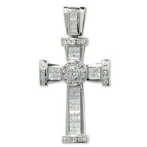 5c090263d Image is loading Sterling-Silver-Large-Crucifix-Cross-Pendant-26-gram-