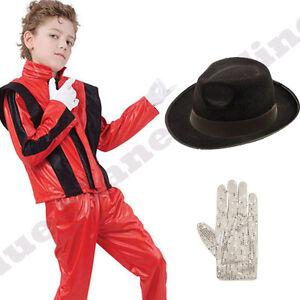 Bambini-BIMBI-RAGAZZI-Michael-Jackson-Thriller-Costume-7-12-anni