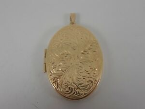 9ct-YELLOW-GOLD-LARGE-LOCKET-HALLMARKED-STUNNING-LARGE-OVAL-LOCKET