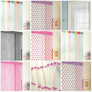 Image Is Loading Glitter Hearts String Door Curtain Panels Fly Screen