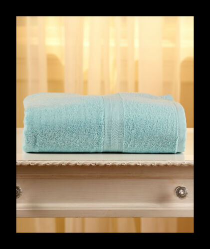 "5-1//2 Feet! 34/"" x 68/"" LIGHT BLUE 100/% Cotton HUGE OVERSIZED Bath Towels"