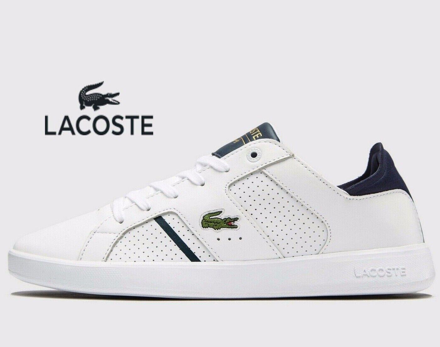 Latest Lacoste Novas CT 118 1 Cuero ® (Hombres Tallas Reino Unido 8 - 12) blancoo Azul Marino